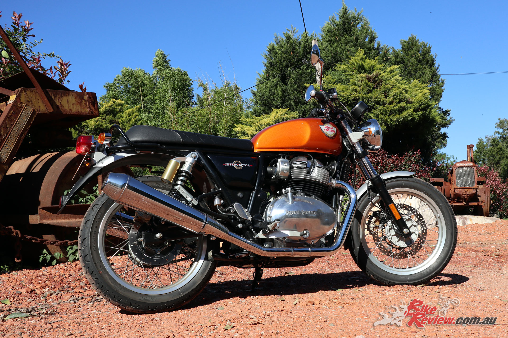 The Interceptor 650 is the more relaxed of the two new Royal Enfield twins