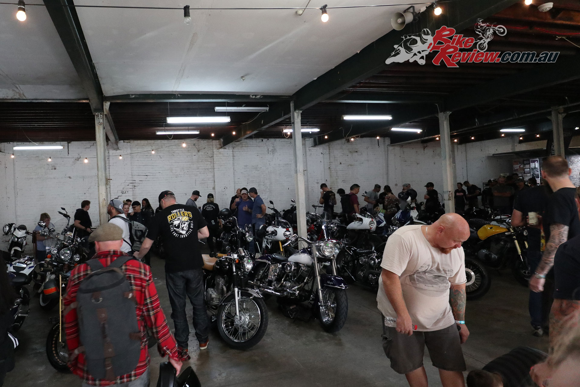 Throttle Roll 2019 included a display of bikes ridden in