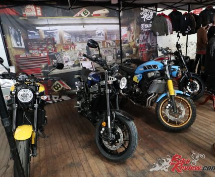 Yamaha had their XSR models on display with one also being raffled off