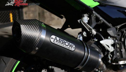 Project Ninja 400 Arrow Race Tech exhaust fitment