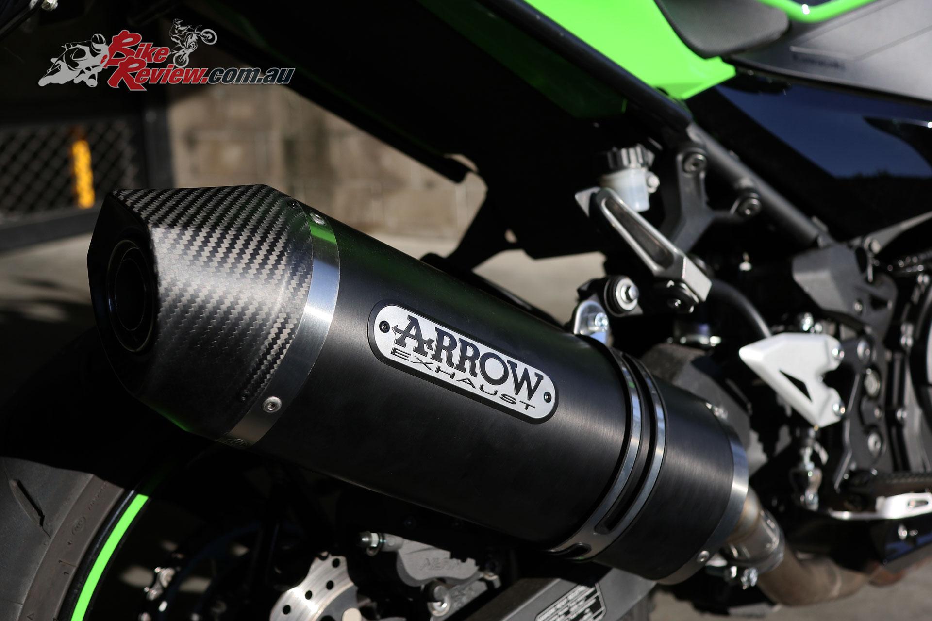 Tech Tips: Project Ninja 400 Arrow Race Tech exhaust fitment - Bike