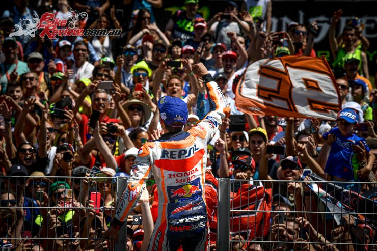 Marc Marquez claims the win in Catalunya