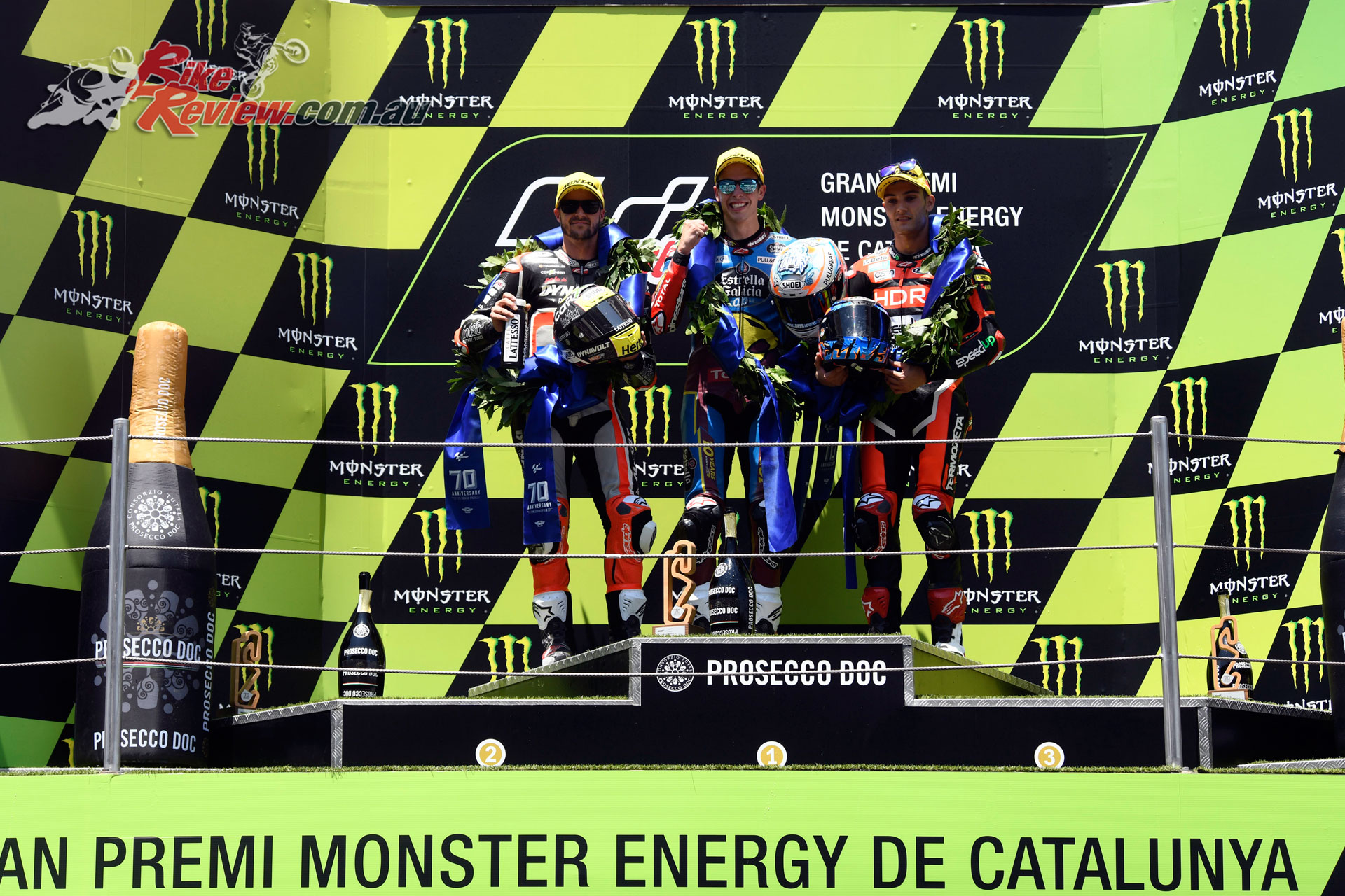 Alex Marquez topped the Moto2 podium