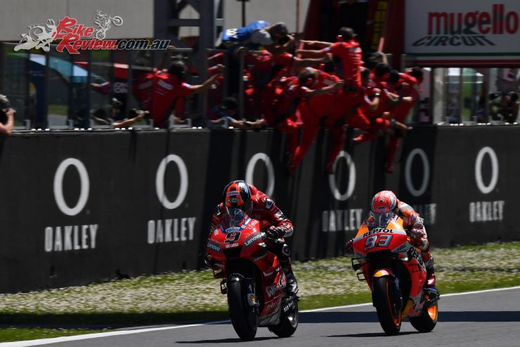 Danilo Petrucci claims the Mugello win from Marquez