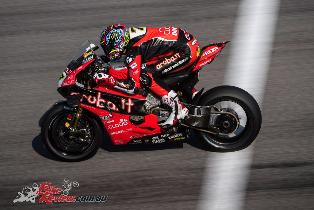 The Aruba.it Racing Ducati riders carried out two days of testing which ended offering extremely positive data.