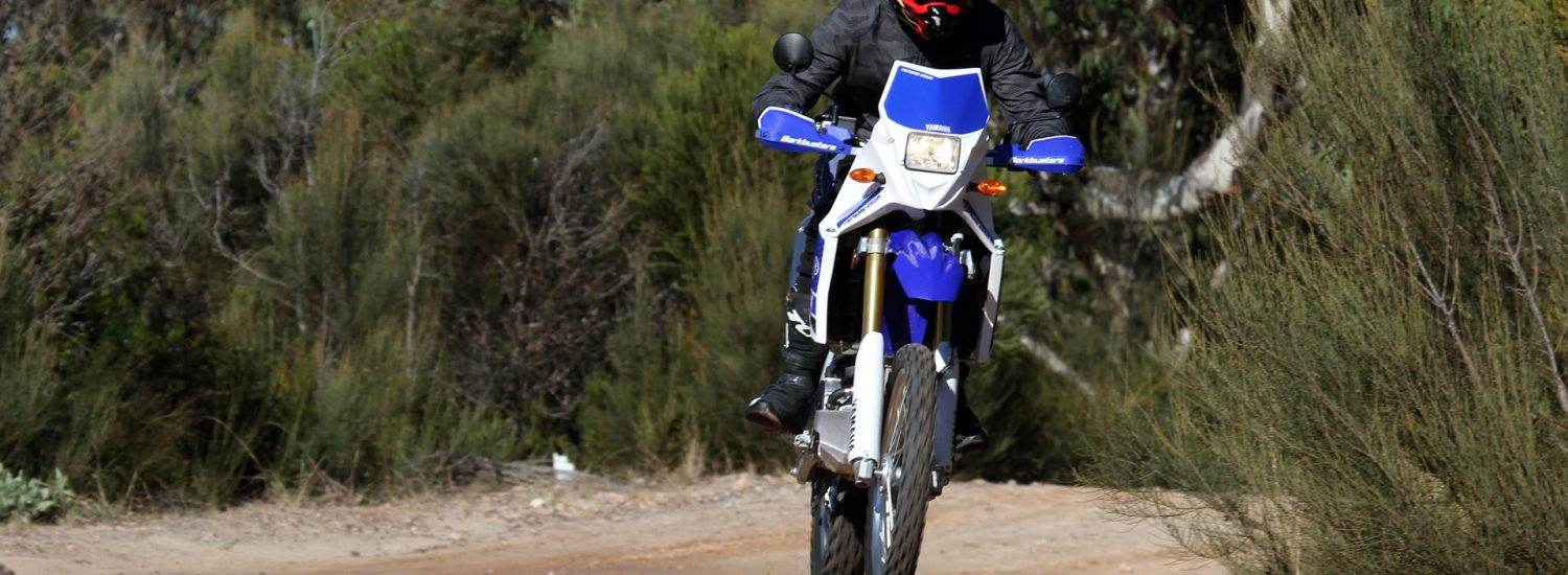 Kris catching a bit of air on our new Project WR250R
