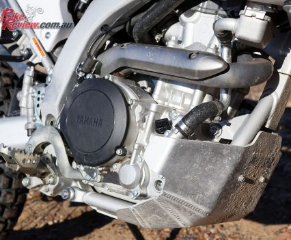The WR250R features an easily maintained 250cc single-cylinder powerplant