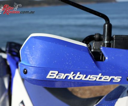Barkbusters on the WR250R
