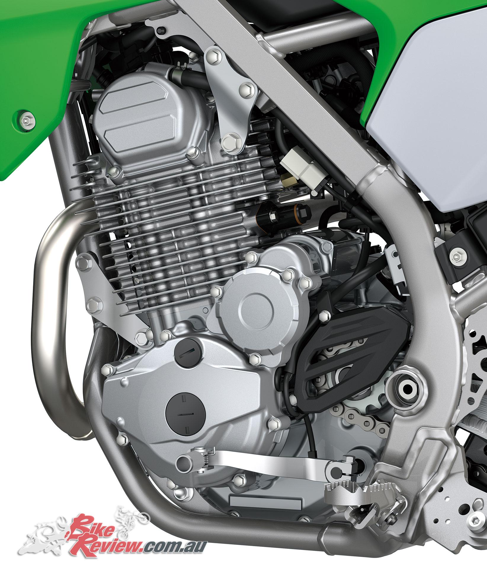 2020 Kawasaki KLX230R powerplant