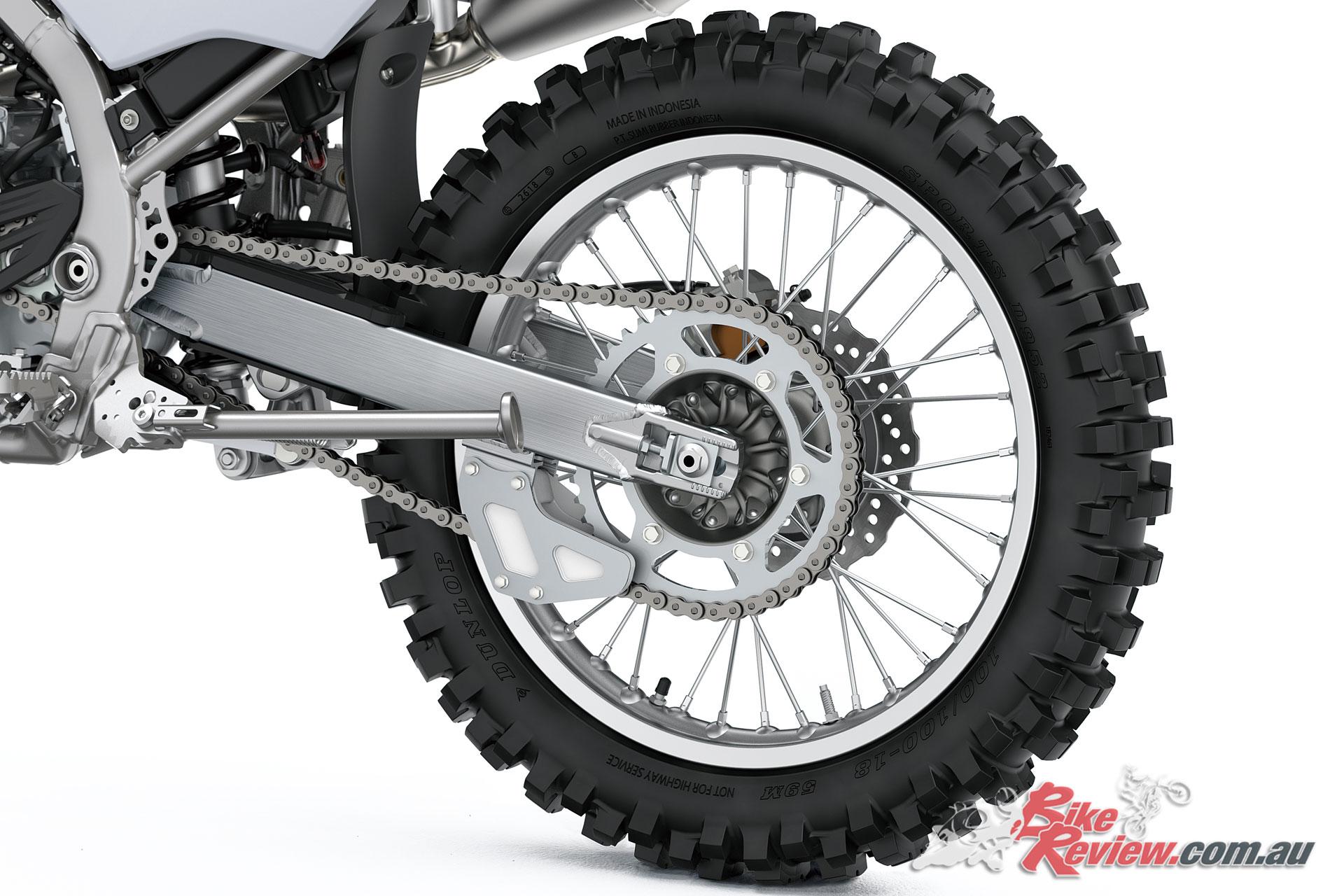 2020 Kawasaki KLX230R aluminium swingarm and 18in rear wheel