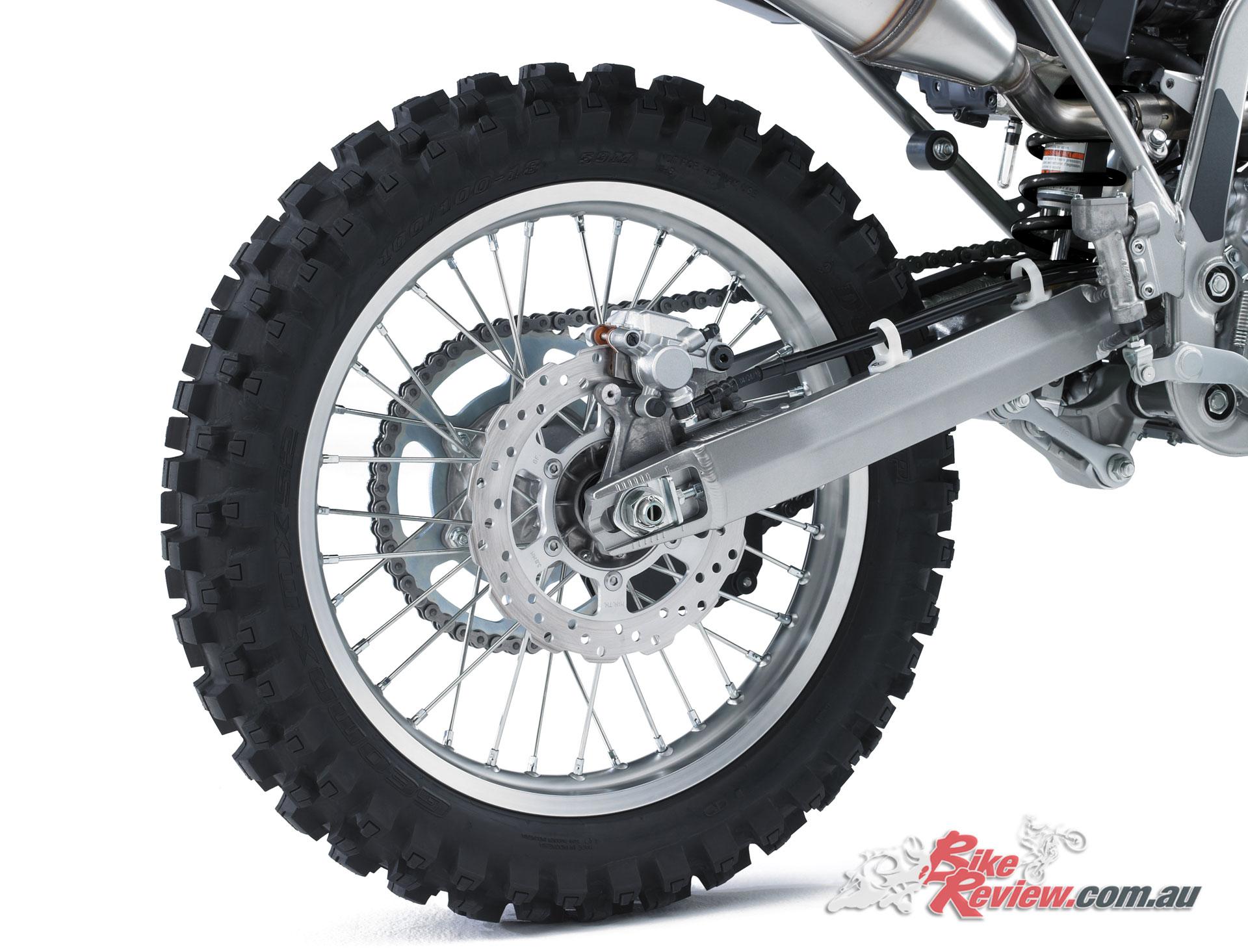 2020 Kawasaki KLX300R - 18in rear with 240mm rotor and single-piston caliper