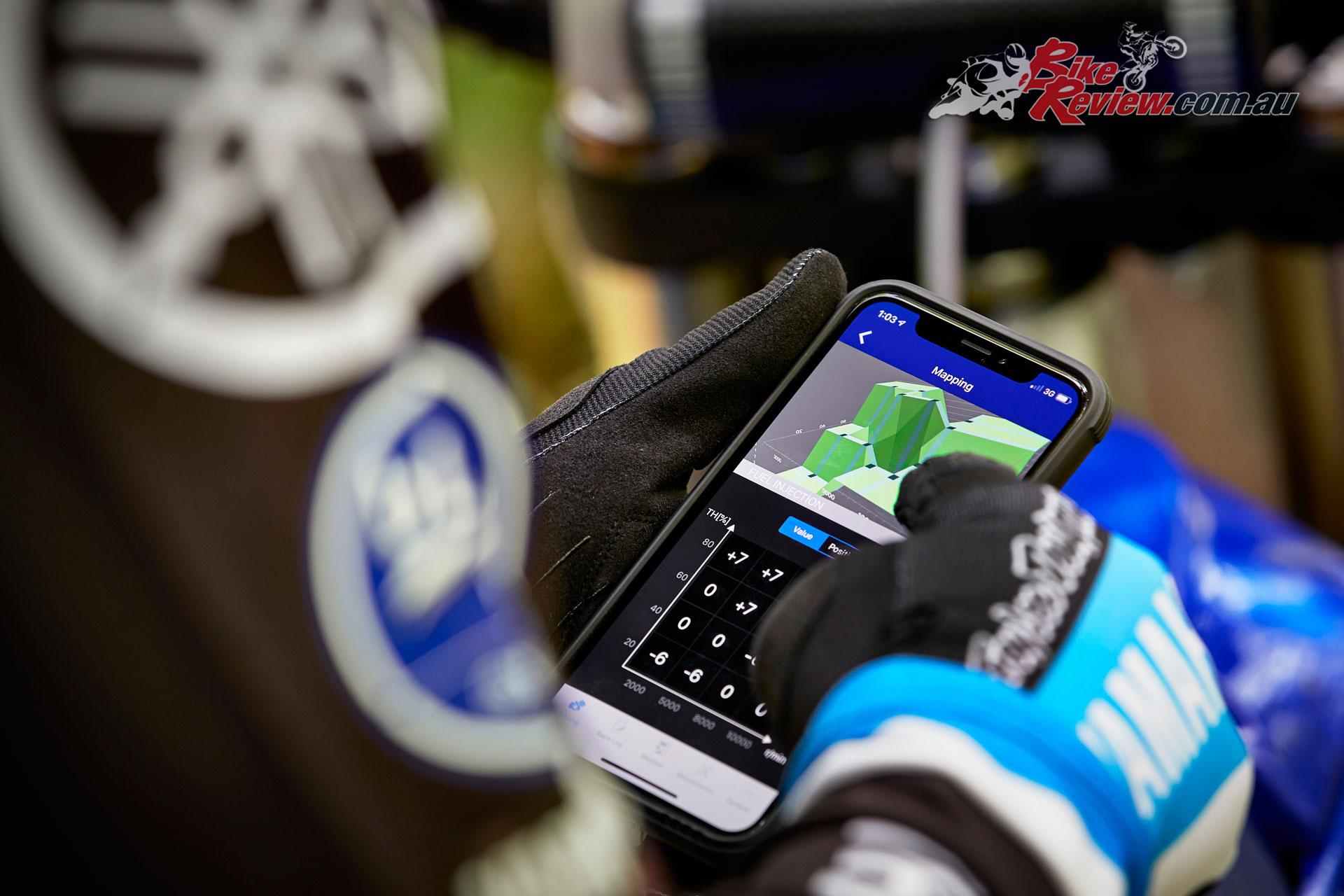 2020 Yamaha YZ250FX - Smartphone tuning capability