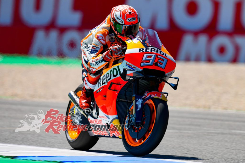 Marquez is set to return to the track this Saturday.