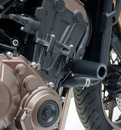 Oggy Knobbs, Axle Oggys and Case protectors now available for the 2019 Honda CB650R