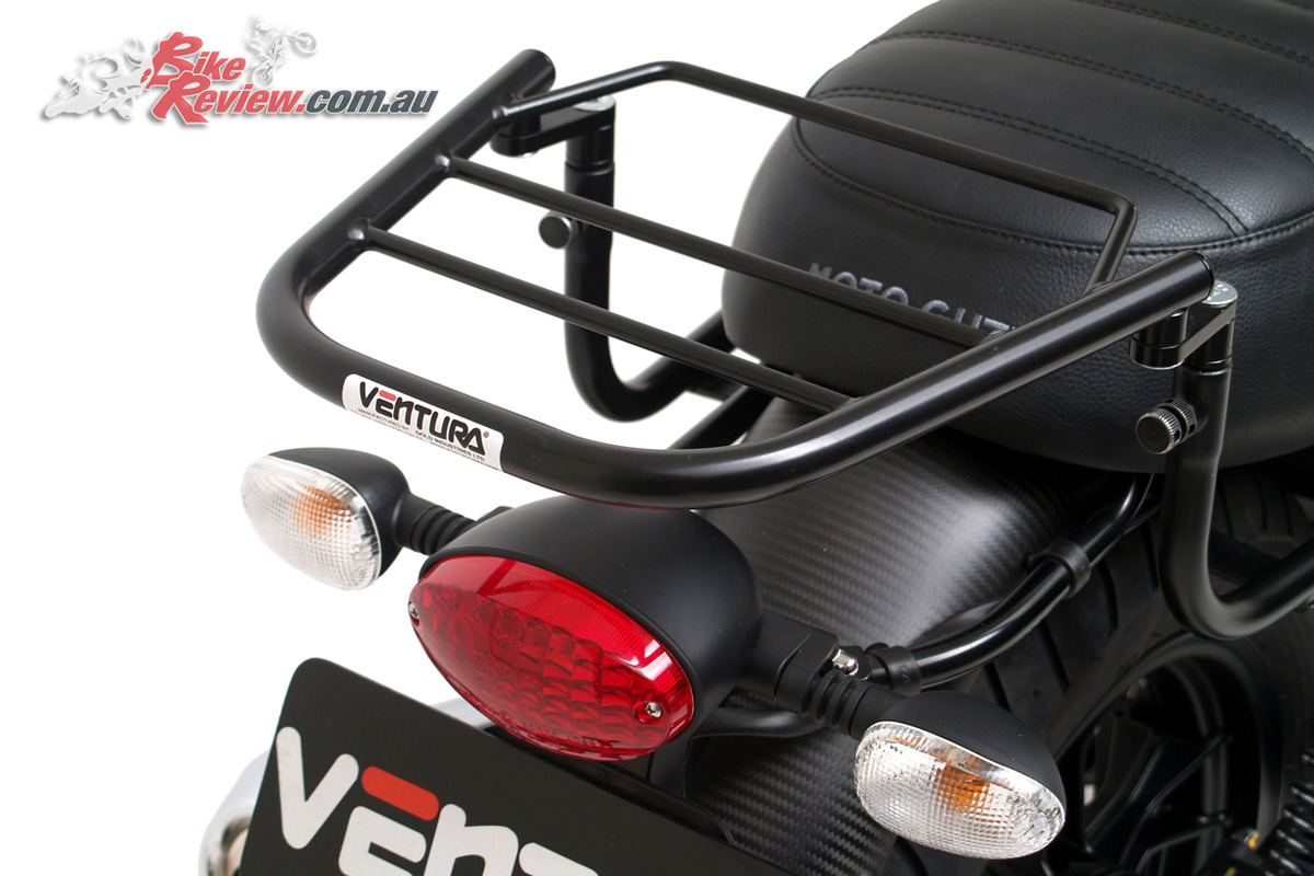 Ventura Luggage now available for the Moto Guzzi V7 III models - EVO Rack