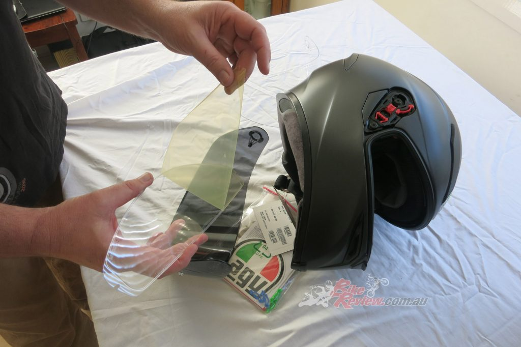The AGV K5 S comes with a clear and tinted visor, with vision through the visor being superb.