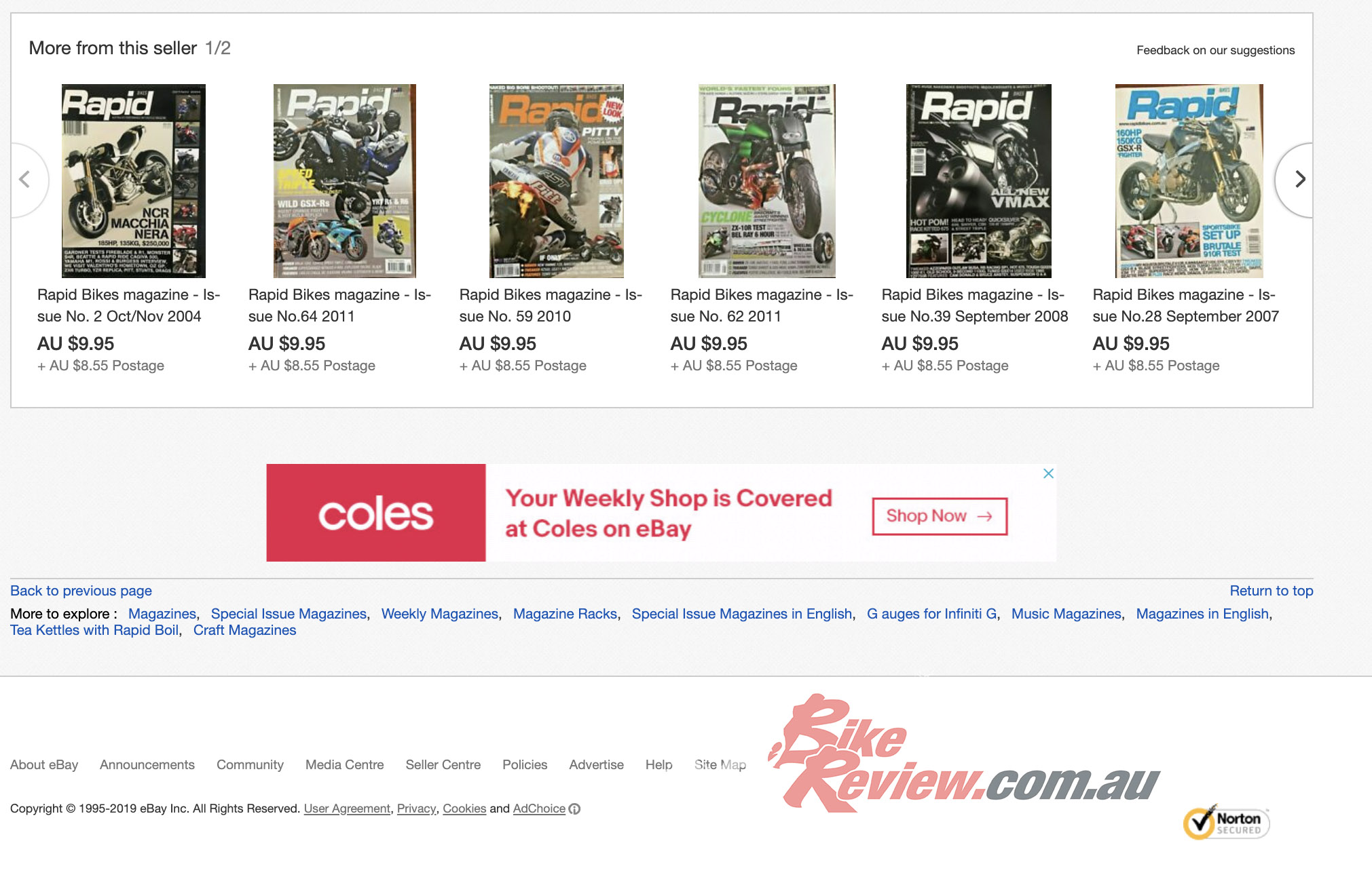 Rapid Bikes, Knee Down, UCBE magazine back issues available