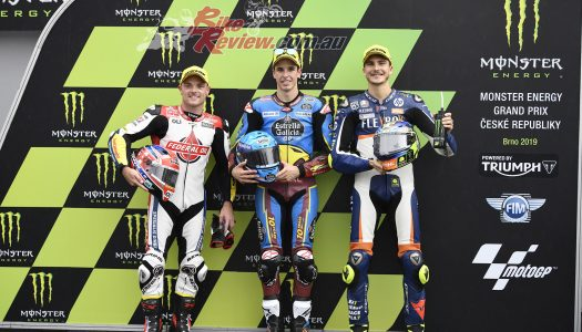 Alex Marquez on pole in Moto2 from Lowes and Baldassarri.