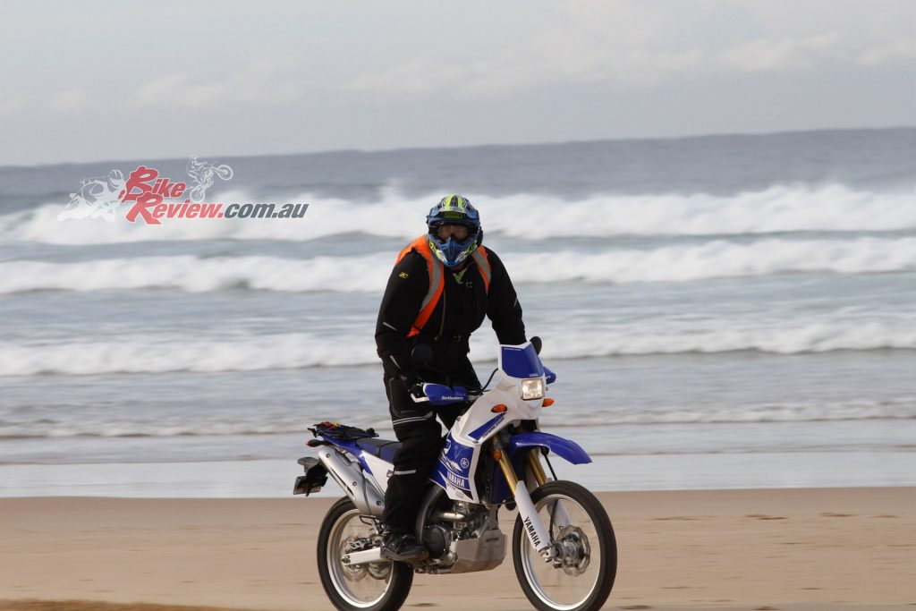 Nothing like the freedom of beach riding. Our WR250R had Trail Wings on it, which are now replaced by E50s...