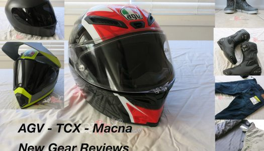 New Gear: Macna, AGV, TCX New Product