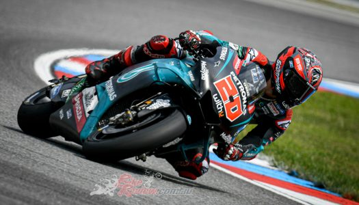 Quartararo heads trio of Yamahas at the Brno Test, 2020 models roll out