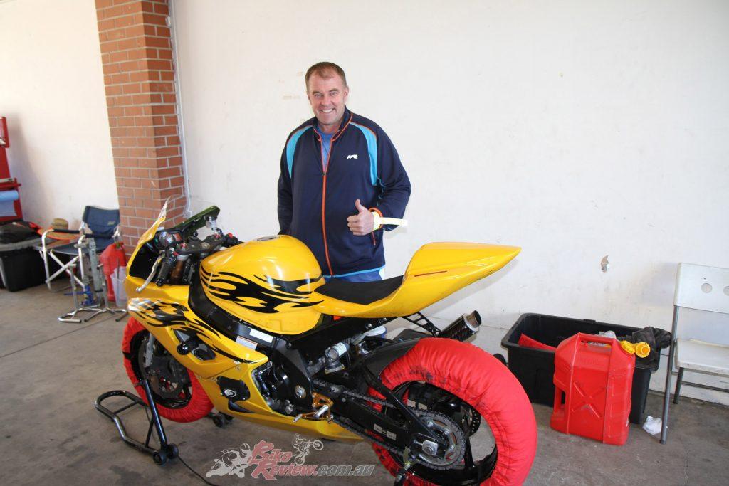 Winston chose to buy a $3k Gixer K5 1000 track bike rather than risk damaging his beloved 2015 BMW S 1000 RR.