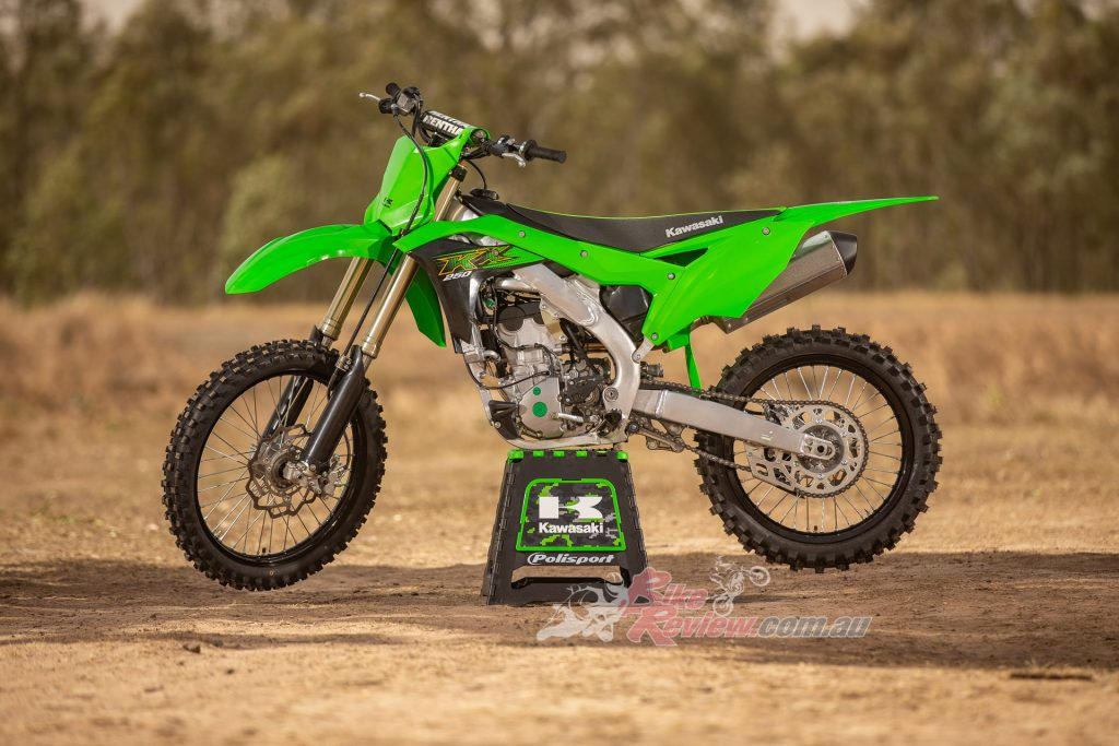 The 2020 KX250 costs $11,048 Ride Away and is available now.