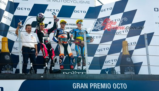 Fast pace and a wild race as Fernandez wins Moto2