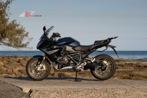 2019 BMW R 1250 RS features a steel frame and sub-frame. The engine is a stressed member.