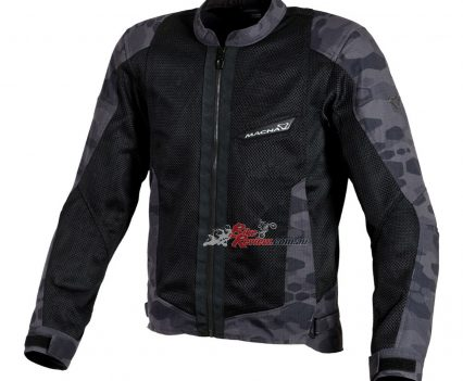 Front view of the Macna Velocity jacket.