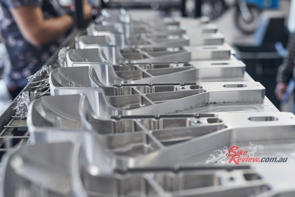 540kg of aluminium is used to produce one bike. All machining is in-house.