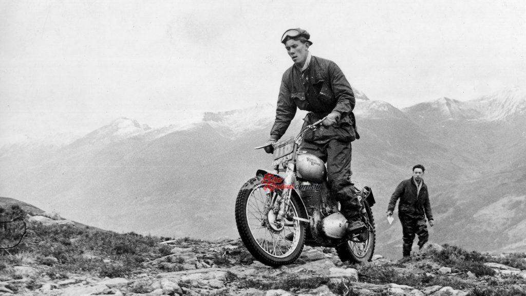 Johnny Brittain put Royal Enfield at the top of the trials world throughout the 1950s.