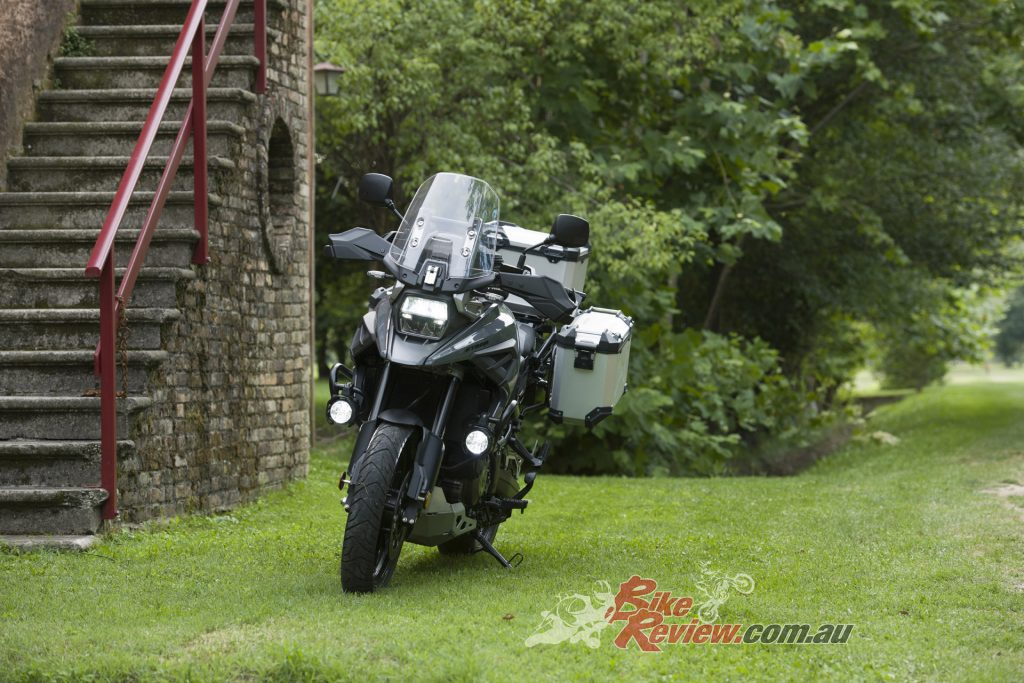 Customers have a choice between the standard V-STROM and the V-STROM 1050XT.