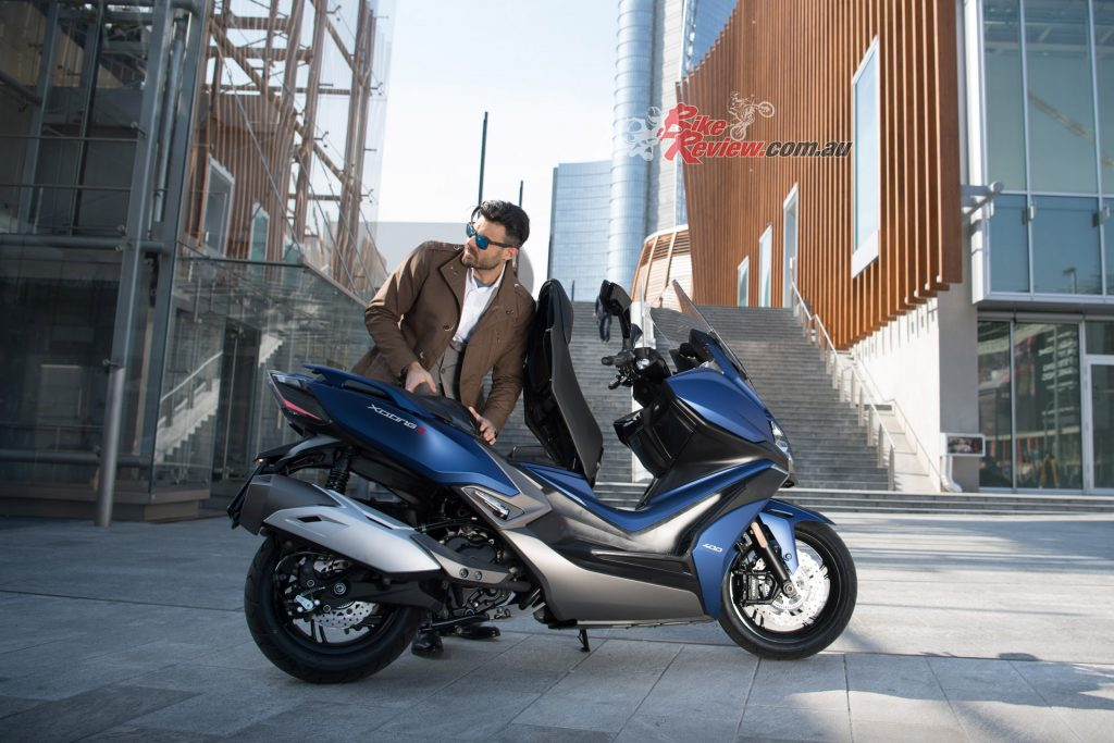 The KYMCO Xciting S 400i is the most powerful in the 400 class.