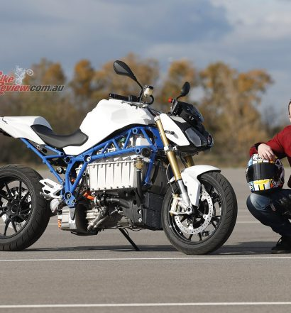 BMW Electric eRoadster motorcycle.