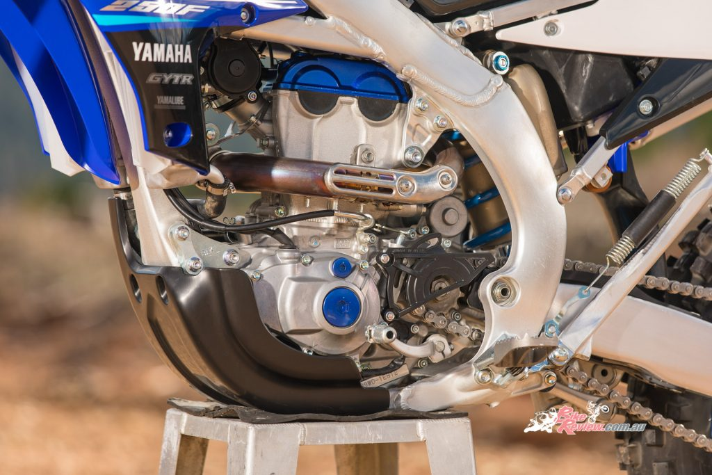 The powerplant of the 2020 WR250F will be based off the high performance YZ250F engine.