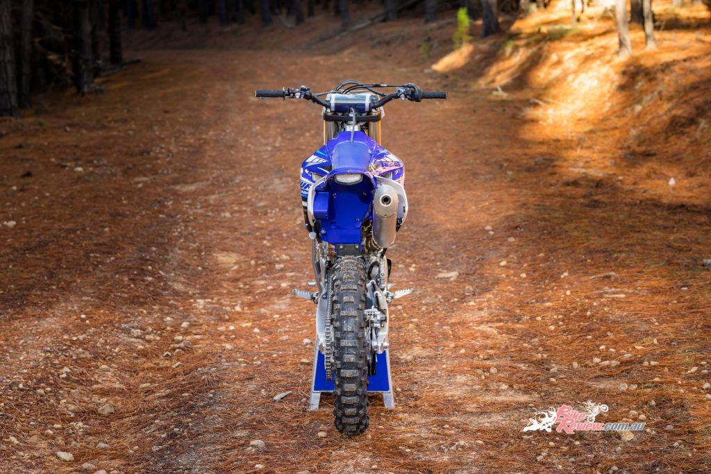 The 2020 WR250F now runs the same bilateral beam frame as the sharp handling current model YZ250F.