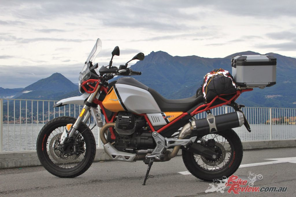 Dave recognises the Moto Guzzi V85 TT for it's great touring capabilities and super comfortable ride.