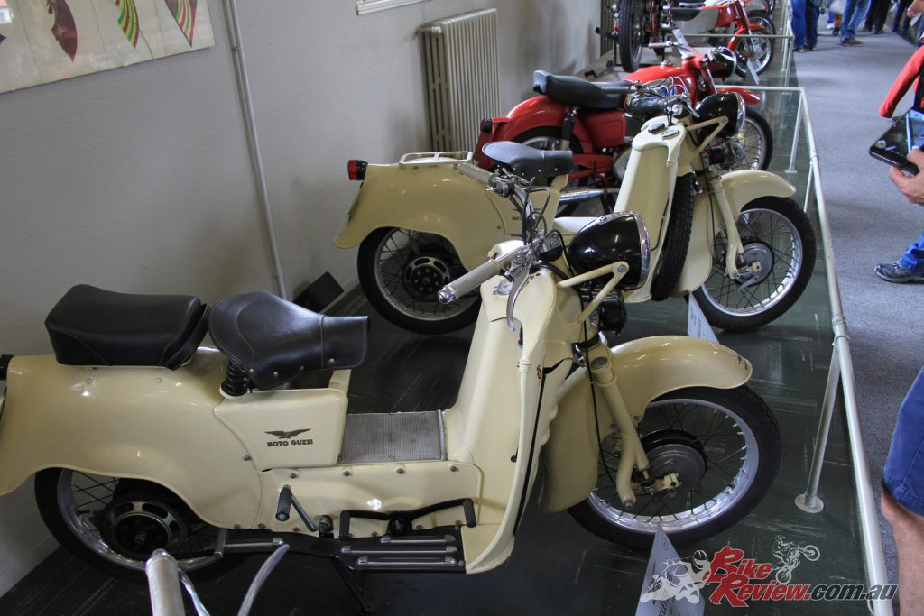 Inside the factory, you'll find a whole host of very very old motorcycles that take you back to Moto Guzzi's roots.
