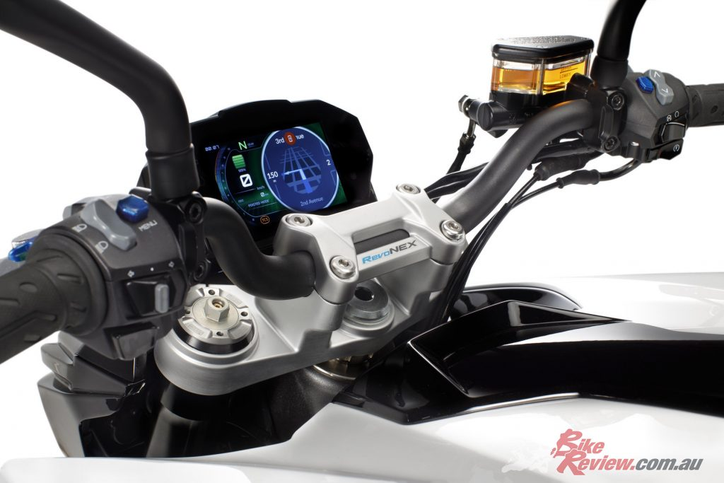 There are four riding modes as well as a type of traction control.