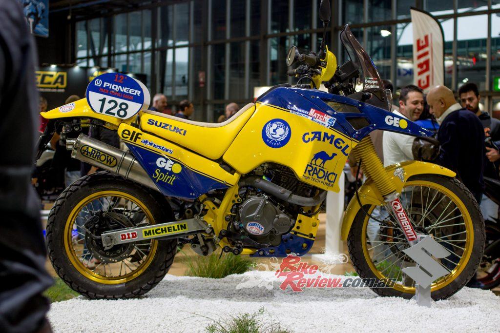 Suzuki DR750 from the 1990 Paris - Dakar.