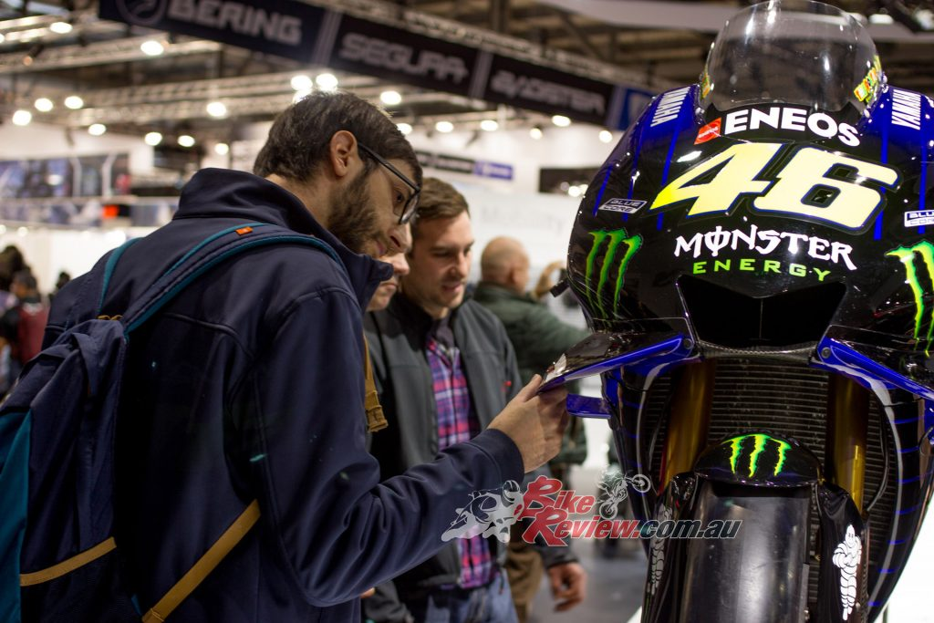 Interactions with Rossi's GP Bike at EICMA