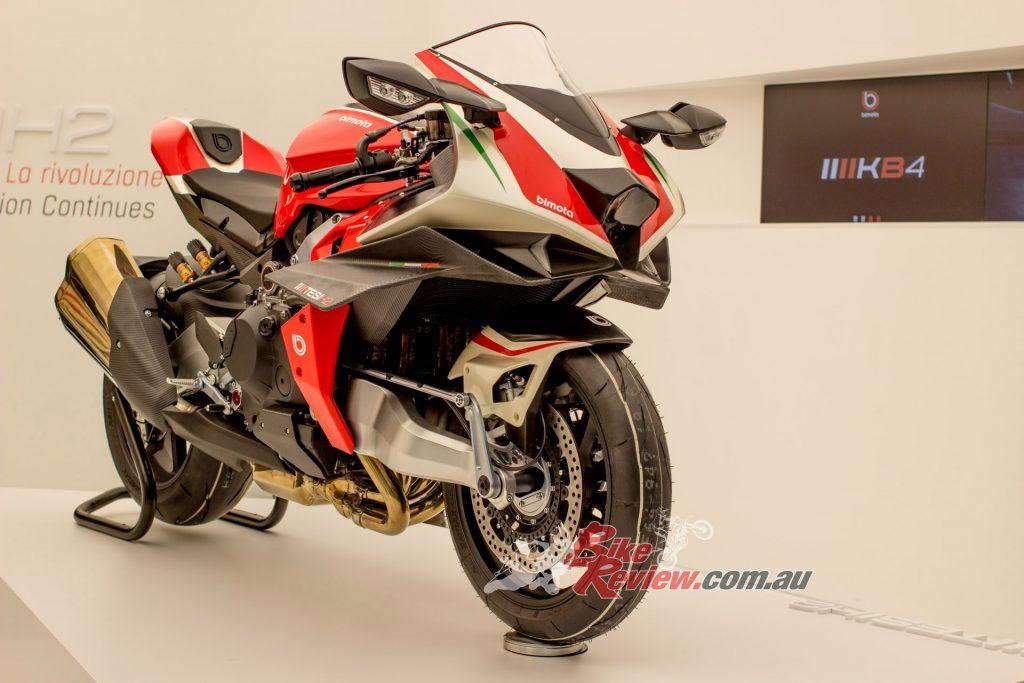 The amazing supercharged Bimota Tesi H2. Kawasaki co-own Bimota now...
