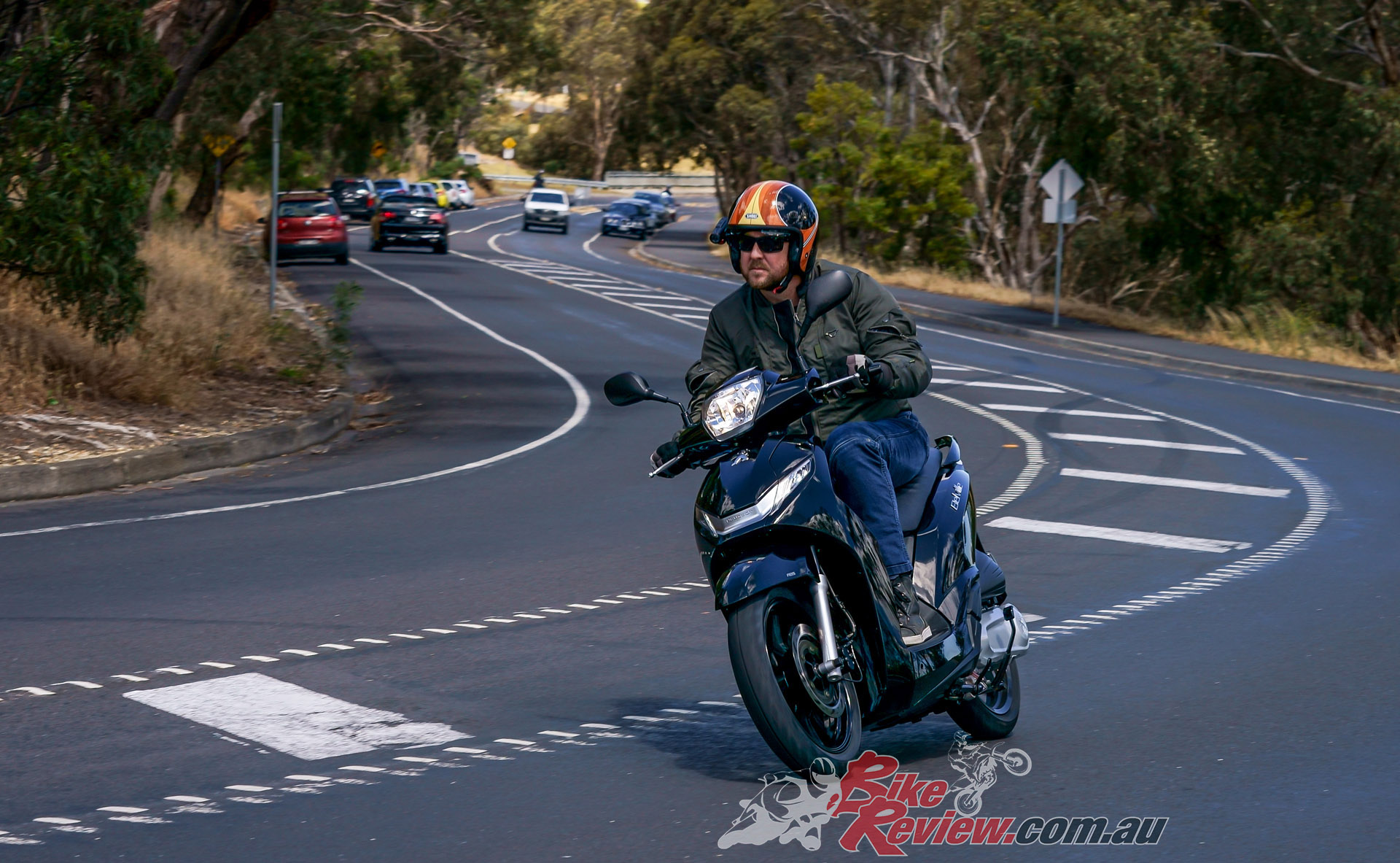 Whether lane splitting or riding in open 60 to 80km/h zones, the Belville is fuss free, easy going and comfortable. More storage would be nice though...