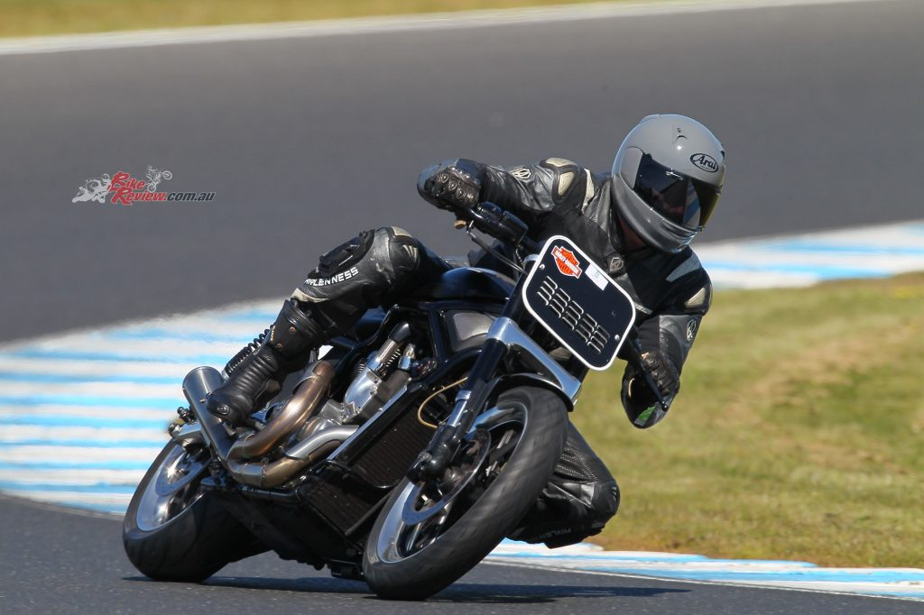 Paul tested the QV Pro a lot on his Harley, road and track, in many conditions.