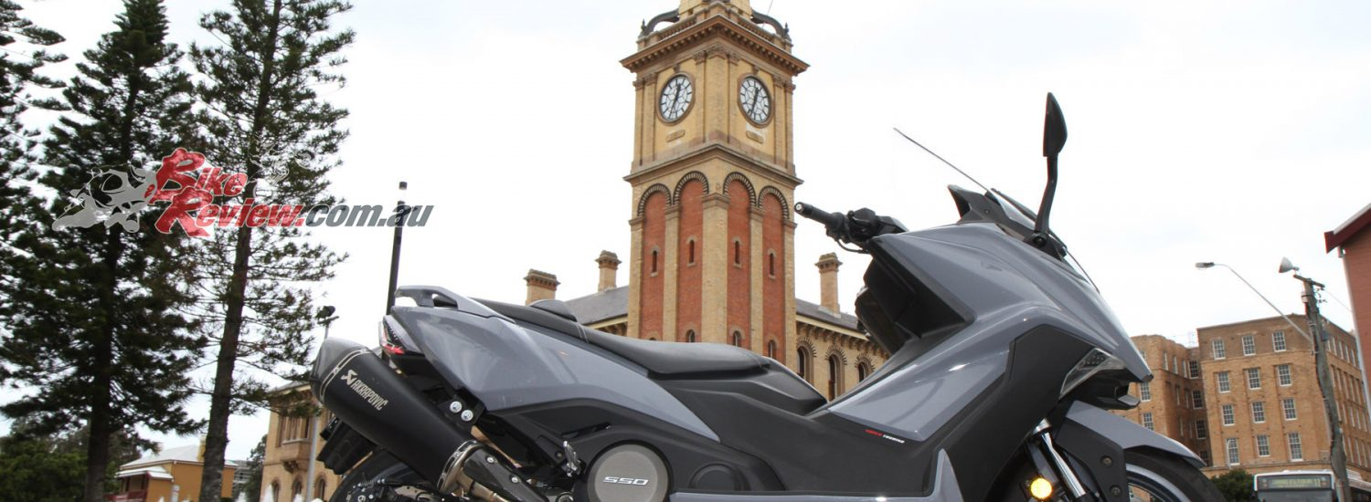 The Kymco AK550 is the most powerful Maxi scooter on the market and the most feature packed.