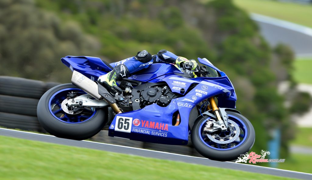 Cru Halliday topped the timesheet at yesterday's Australian Superbikes practice, with a time of 1min32.5secs.