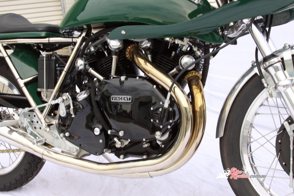 Egli's most famous motorcycle, the 'Vincent', used a tuned Vincent 'Black Shadow' engine, housed in Egli's custom frame.