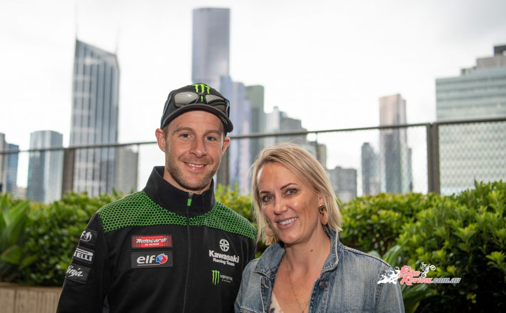 WorldSBK champ Jonathan Rea with Australian wife Tatia, who grew up on Phillip Island watched the bushfires from her Irish home.