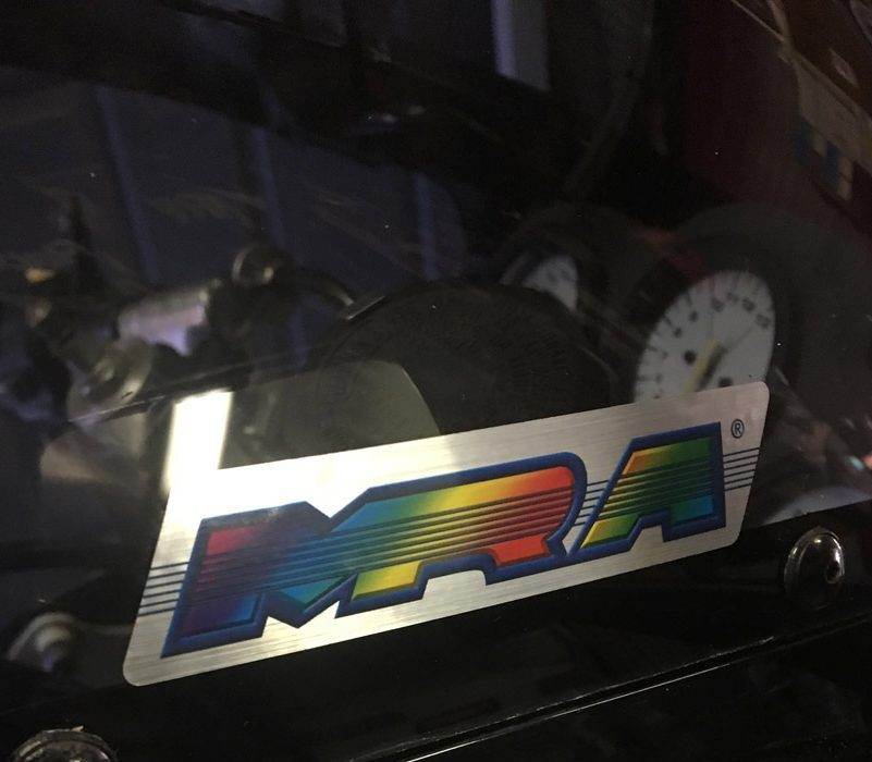 The MRA screens come with two stickers as optional fitment. They are good quality and a neat design.